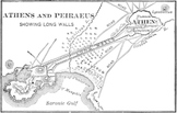 Map of ancient Athens & Piraeus