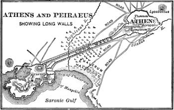 Map of ancient Athens & Piraeus