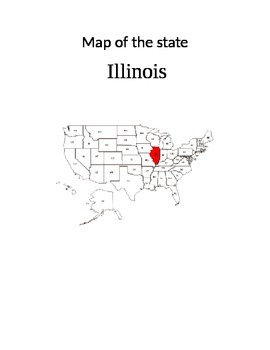 Map of my State Book/Activity