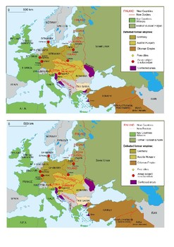 Map of territorial changes in Europe after World War I (as of 1923) Handout