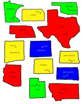 Map of the U.S. with Capitals - Printable Jigsaw Puzzle - Grades 4-7