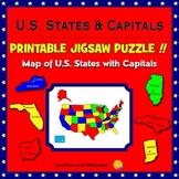 U.S. States Map - Printable Jigsaw Puzzle - Grades 3-7