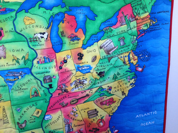 Map of the USA Quilt