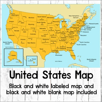 Clear Map Of The United States Map of the United States USA Map by Clever Chameleon | TpT