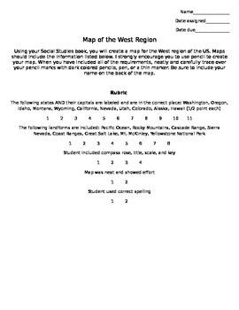 Map Skills: West Region of US