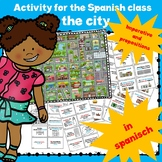 Map of the city, prepositions and imperative, activity in group.