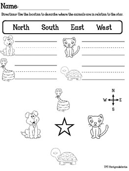 map skills nwse by firstgradefirstie teachers pay teachers. Black Bedroom Furniture Sets. Home Design Ideas