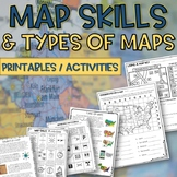 Map skills and Types of Maps Printables & Activities Pack