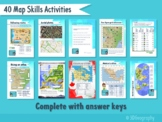 28 Map skills worksheets - complete with answers