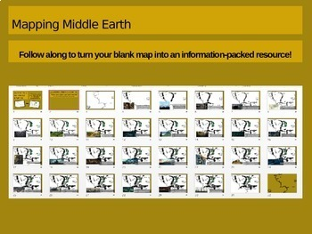 Map the Hobbit: a follow-along interactive PPT to help students map Middle Earth