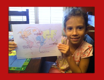 Map the Route Activity to Learn Continents ~ Geography for Kids