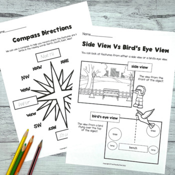 Map the bedroom Geography mapping activity prepositional language direction