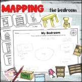 Map the bedroom Geography mapping activity prepositional l