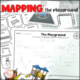 Map the playground Geography mapping activity prepositional language direction