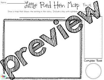 Map with Little Red Hen: ELA and Social Studies Unit