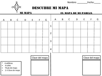 Mapa (Cuadricula) Spanish Quadrent Map