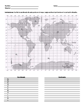 Mapa Mundi Coordenadas