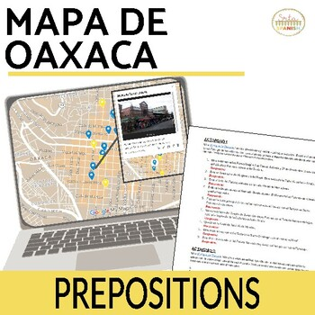 Mapa de Oaxaca: Prepositions of Location Online Interactive Activity