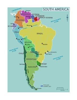 Mapa de Sudamerica