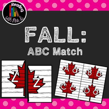 Fall Autumn ABC Letter Match Game