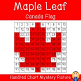 Maple Leaf (Canada Flag; Autumn/Fall) Hundred Chart Mystery Picture