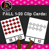 Fall Autumn 1-20 Number Clip Cards