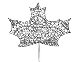 Maple Leaf Coloring Page