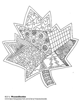 Maple Leaf Colouring Page