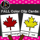 Fall Autumn Colors Clip Cards