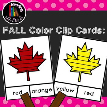 Fall Autumn Colors Clip Cards