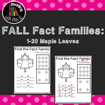 Fall Autumn Fact Families Number Bonds 1-20