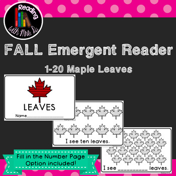 Fall Autumn Numbers 1-20 Emergent Interactive Reader