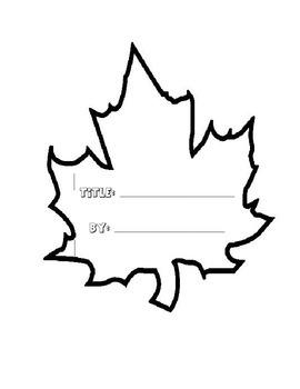 Maple Leaf Shape Book