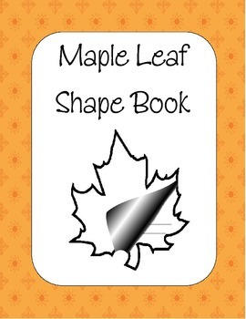 Maple Leaf Shape Book