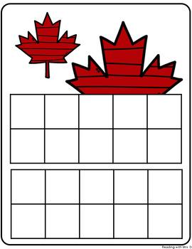 Fall Autumn Ten Frames Mat and Flash Cards