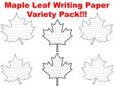 Maple Leaf Writing Paper Leaf Writing Template Fall Leaf T