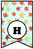 Maple Leaves, Canada, Fall Bulletin Board Pennant Letters, Home Classroom Decor