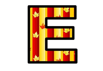Maple Leaves Letters, Fall Bulletin Board Letters, Maple Alphabet Posters Decor