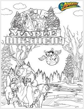 Maple Mayhem Coloring Page