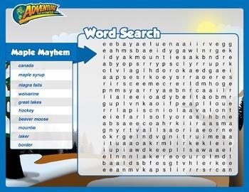 Maple Mayhem Word Search