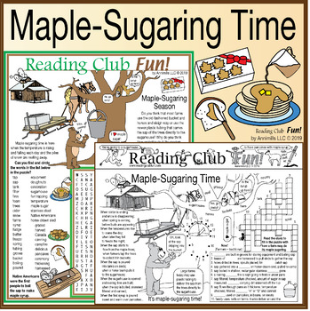 Maple-Sugaring Time Two-Page Activity Set