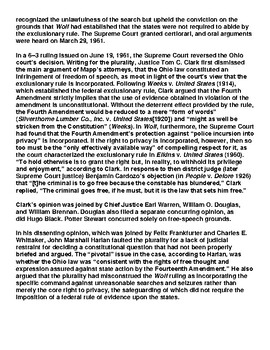 Mapp v. Ohio 1961 Article & Assignment