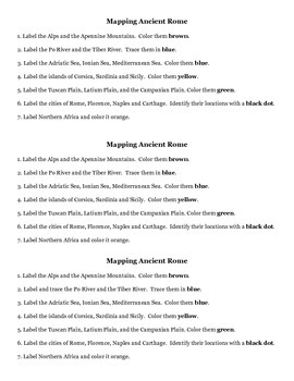 Mapping Ancient Rome Directions