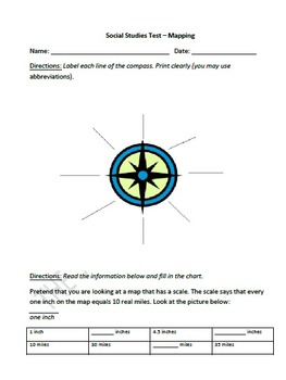 Mapping Assessment
