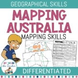 Mapping Australia | Geographical Skills Map Labelling