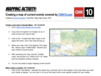 Mapping CNN10 News Stories with Google Maps