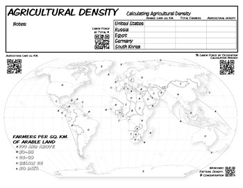 **Free** Mapping & Calculating Density-Blank Map **Coloring Book Series**