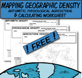 **Free** Mapping & Calculating Density-Blank Map **Colorin
