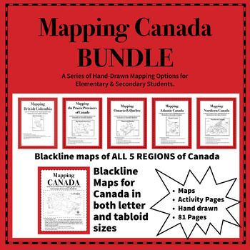 Map Of Canada For Elementary Students.Mapping Canada Bundle