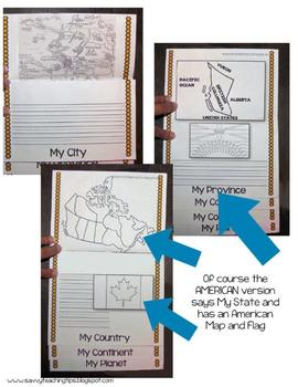 Mapping - Canada Flip Flap Book